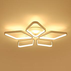 tanie Mocowanie przysufitowe-5 świateł Podłużna Lampy sufitowe Światło rozproszone Malowane wykończenia Metal Żel krzemionkowy Zawiera żarówkę, projektanci 110-120V / 220-240V Ciepła biel / Biały
