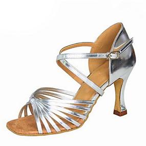bfa9b2719e71 Žene Cipele za latino plesove Svila   Eko koža Sandale Kopča Kubanska  potpetica Moguće personalizirati Plesne cipele Crn   Pink   Braon