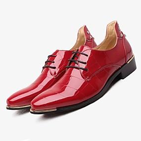 baratos Oxfords Masculinos-Homens Sapatos formais TPU Outono / Inverno Sapatos De Casamento Preto / Azul Marinho / Vermelho / Sapatos de vestir / EU42