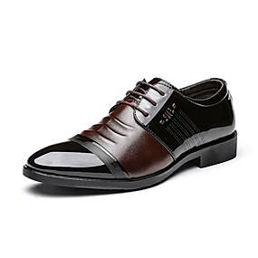 baratos Oxfords Masculinos-Homens Sapatos formais Microfibra Primavera / Outono Oxfords Preto / Marron / Tachas / Ao ar livre