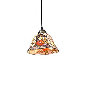 billige Tiffany Lamper-diameter 20cm tiffany anheng lys glass lampe skygge stue soverom spisestue barn rom lysarmatur