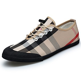 cheap Men's Sneakers-Men's Shoes Fabric Spring Fall Comfort Sneakers Black Khaki