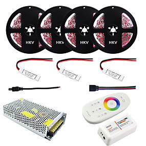 cheap 80% OFF-1Set HKV® 20M RGB 5050SMD DC 12V Nonwaterproof Strip Light 2.4G RF Remote RGB Controller 20A Power Adapter AC 110-240V Batteries Not Included