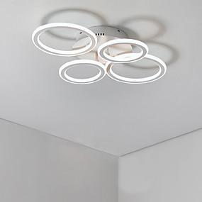 povoljno Popust-4-Light Flush Mount Ambient Light Slikano završi Metal Mat, Bulb Included, dizajneri 110-120V / 220-240V Meleg fehér / Hladno bijela Uključen je LED izvor svjetlosti / Integrirano LED svjetlo