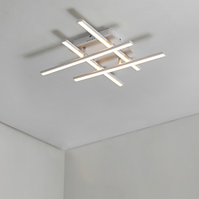 tanie Mocowanie przysufitowe-4 światła Podłużna Podtynkowy Światło rozproszone Malowane wykończenia Aluminium Matowy, Zawiera żarówkę, projektanci 110-120V / 220-240V Ciepła biel / Chłodna biel Źródło światła LED w zestawie