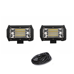 billige Billamper-2pcs Bil Elpærer SMD 3030 7200 lm 24 Arbeidslampe Til