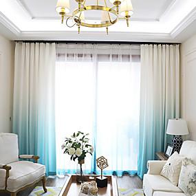 ราคาถูก ผ้าม่าน-ที่ทันสมัย ทรอนิกผ้าม่านม่าน สองช่อง ม่าน ห้องนั่งเล่น   Curtains / Blackout / Living Room