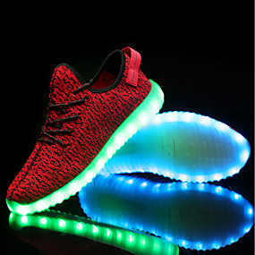 cheap LED Shoes-Men's Comfort Shoes Knit Spring, Fall, Winter, Summer Athletic Shoes Black / Gray / Red / EU40