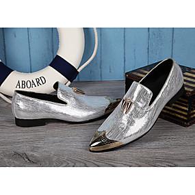 halpa Miesten Oxford-kengät-Miesten Uutuushahmot Synteettinen Kevät / Kesä Englantilainen Oxford-kengät Kulta / Hopea / Häät / Juhlat / Juhlat / Comfort-kengät