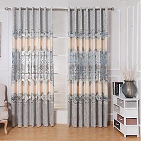 저렴한 특별 할인 및 프로모션-현대 커튼은 거실 / 침실 자수 두 패널을 커튼