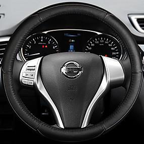 povoljno Dodaci za unutrašnjost auta-Prekrivači za upravljač Koža 38cm Plava / Obala / Red Za Nissan Teana 2013