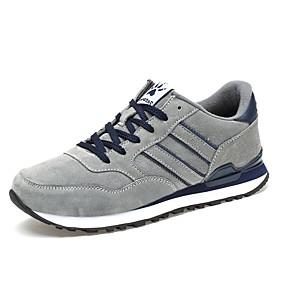 baratos Tênis Masculino-Homens Sapatos Confortáveis Sintéticos Outono / Inverno Tênis Azul / Cinzento / Ao ar livre