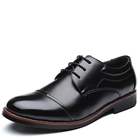 baratos Oxfords Masculinos-Homens Sapatos formais Microfibra Primavera / Verão Oxfords Preto / Marron / Festas & Noite / Festas & Noite