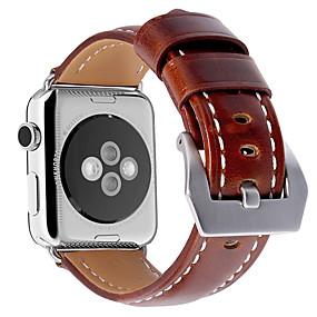 voordelige Telefoons en accessoires-Horlogeband voor Apple Watch Series 4/3/2/1 Apple Leren lus Echt leer Polsband
