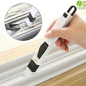 povoljno Oprema za čišćenje kuhinje-2 in 1 multifunkcionalni četkica za prozorsku četkicu s ladicama s kutijom za ronilicu, ormarićima za čišćenje uklanjanja prašine u prahu