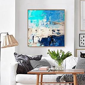 povoljno Trends-uramljena umjetnost ispis uramljena platna tisak tirkizno plava apstraktna umjetnost slikarstvo platno zid umjetnosti