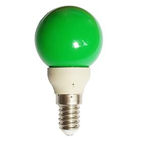 billige Globepærer med LED-1pc 0,5 w 15-25 lm e14 led globe pærer g45 7 ledede perler dip led dekorative grønn 100-240 v