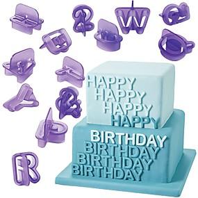 povoljno Kalupi za tortu-40pcs alfabet pismo broj fondant torta plijesni cookie cutters