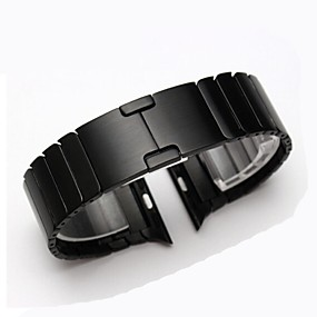 hesapli Smartwatch Bantları-Watch Band için Apple Watch Series 4/3/2/1 Apple Klasik Toka Çelik Bilek Askısı