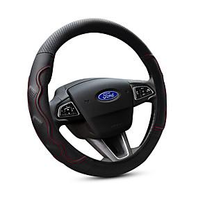 economico Accessori per interno auto-Copristerzo per auto vera pelle 38cm Nero / Rosso Per Ford Focus / Escort / Fiesta Tutti gli anni