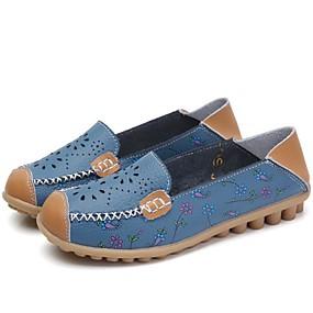 finest selection 39fc0 92039 Mujer PU Primavera   Verano Confort Zapatos de taco bajo y Slip-On Tacón  Bajo Dedo redondo Blanco   Amarillo   Azul