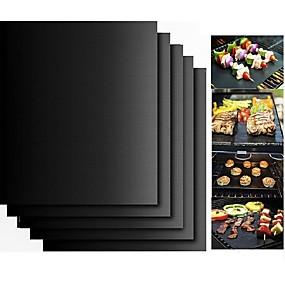 povoljno Najprodavanije-2pcs debeli PTFE roštilj roštilj ne-stick reusable bbq grill mats sheet roštilj folije bbq liner