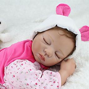 ราคาถูก ของเล่นสำหรับเด็ก-NPKCOLLECTION ตุ๊กตา NPK Reborn Dolls สำหรับเด็กของเล่น เด็กทารก ตุ๊กตาทารกเกิดใหม่ ซิลิโคน - เหมือนจริง น่ารัก ทำด้วยมือ Child Safe Non Toxic การจำลอง เด็ก Toy ของขวัญ / โทนผิวธรรมชาติ / ขนตาปลอมมือ
