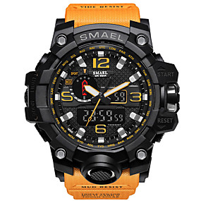 cheap 2019 Best Father's Day Sales-SMAEL Men's Sport Watch Military Watch Bracelet Watch Digital Quilted PU Leather Black / Blue / Red 30 m Water Resistant / Waterproof Alarm Calendar / date / day Analog - Digital Charm Luxury Vintage