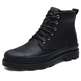 baratos Botas Masculinas-Homens Sapatos Confortáveis Pele Outono / Inverno Botas Botas Curtas / Ankle Preto / Coturnos / EU42