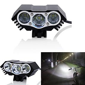 billige Sykkellykter og reflekser-Frontlys til sykkel LED Sykkellykter LED Sykling Vanntett, Flere moduser 18650 3000 lm DC-drevet Sykling / IPX-5