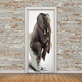 cheap Others-Animals 3D Wall Stickers Plane Wall Stickers 3D Wall Stickers Decorative Wall Stickers Door Stickers, Vinyl Home Decoration Wall Decal