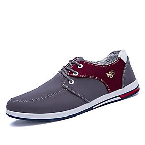 baratos Oxfords Masculinos-Homens Sapatos Confortáveis Couro Ecológico Primavera / Outono Oxfords Estampa Colorida Preto / Azul / Cinzento