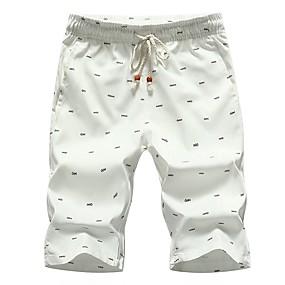 8dca3858bea2 Herre Bomuld Løstsiddende Shorts Bukser - Trykt mønster Sort
