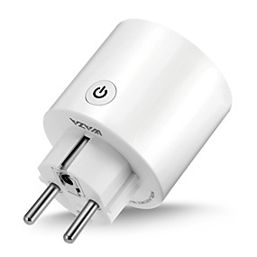 cheap Brand Salon-WAZA Smart Plug(EU) Mini Outlet Compatible with Amazon Alexa and Google Assistant, Wifi Enabled Remote Control Smart Socket with Timer Function, No Hub Required