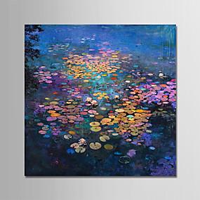 levne Abstraktní malby-Hang-malované olejomalba Ručně malované - Krajina Moderní Bez vnitřní rám / Válcované plátno
