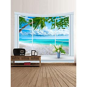 halpa Seinämaalaukset-Hiekkaranta-teema Maisema Wall Decor 100% polyesteri Klassinen Moderni Wall Art, Seinävaatteet Koriste