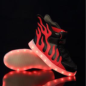 abordables Chaussures pour Fille-Garçon / Fille Chaussures Tulle / Polyuréthane Printemps Chaussures Lumineuses Basket LED pour Noir / Rouge / noir / vert / Blanc / Bleu
