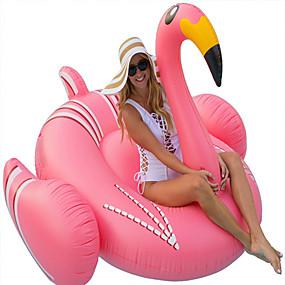 hesapli Havuz ve Su Eğlencesi-Flamingo Şişme Havuz Şamandıraları Donut Havuz Şamandıraları Dış Mekan PVC / winyl 1 pcs Çocuklar için Yetişkin Hepsi Genç Erkek Genç Kız Oyuncaklar Hediye