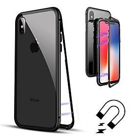 olcso Apple tartozékok-Case Kompatibilitás Apple iPhone 8 / iPhone 8 Plus / iPhone XS Flip / Átlátszó Héjtok Egyszínű Kemény Hőkezelt üveg mert iPhone XS / iPhone XR / iPhone XS Max