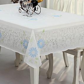 billige Bordduker-Land PVC Kvadrat Duge Blomstret Borddekorasjoner 1 pcs