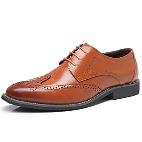 baratos Oxfords Masculinos-Homens Sapatos de couro Couro Envernizado / Pele Primavera Verão Casual Oxfords Respirável Leopardo Azul / Castanho Claro / Castanho Escuro