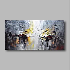 levne Abstraktní malby-Hang-malované olejomalba Ručně malované - Abstraktní Krajina Současný styl Obsahovat vnitřní rám / Reprodukce plátna
