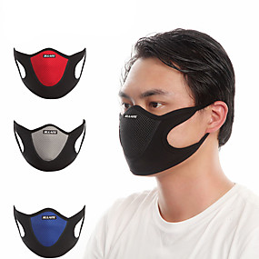 cheap Balaclavas & Face Masks-Sports Mask Pollution Protection Mask Breathable Dust Proof Bike / Cycling Red Blue Grey Velvet Lycra for Men's Women's Adults' Cycling / Bike Bike / Cycling Trail Patchwork 1 pc / Mountain Bike MTB