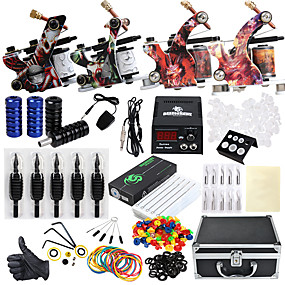 cheap Tattoos & Body Art-DRAGONHAWK Tattoo Machine Professional Tattoo Kit - 4 pcs Tattoo Machines, Professional Level / All in One / Easy to Setup Alloy LCD power supply Case Included 4 alloy machine liner & shader