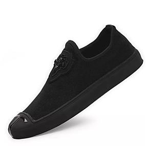 cheap Men's Sneakers-Men's Light Soles Fabric Spring &  Fall Sneakers Black