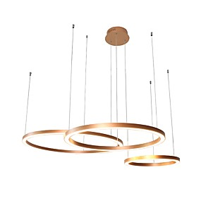 cheap Chandeliers-UMEI™ Circular Chandelier Ambient Light Anodized Aluminum Acrylic Creative, Adjustable, New Design 110-120V / 220-240V Warm White / White LED Light Source Included / LED Integrated / FCC