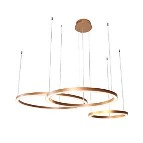 billige Lysekroner-UMEI™ Sirkelformet Lysekroner Omgivelseslys eloksert Aluminum Akryl Kreativ, Justerbar, Nytt Design 110-120V / 220-240V Varm Hvit / Hvit LED lyskilde inkludert / Integrert LED / FCC