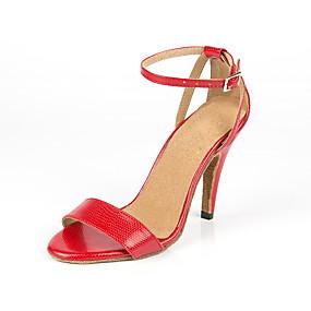 6fe7cb0c36fc4 نسائي أحذية رقص المواد التركيبية سينكرز MiniSpot بقعة صغيرة نحيفة عالية  الكعب أحذية الرقص أحمر   تمرين