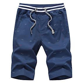 d73333bad08b Herre Basale Plusstørrelser Bomuld   Hør Harem   Shorts Bukser - Ensfarvet  Net   Hul Lyseblå