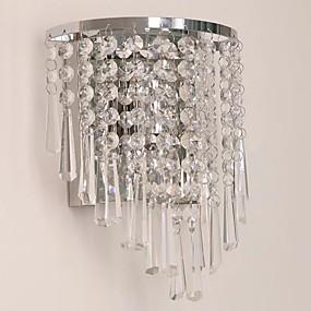 billige Væg Lamper-QIHengZhaoMing Krystal LED / Moderne / Nutidig Væglamper butikker / cafeer / Kontor Metal Væglys 110-120V / 220-240V 5 W / E12 / E14